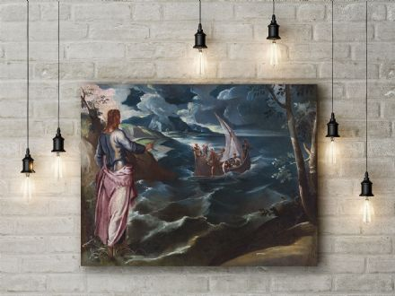 Jacopo Tintoretto: Christ at the Sea of Galilee. Fine Art Canvas.